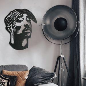 Metalen wanddecoratie - Tupac