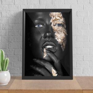 Thinking Women zwart goud poster