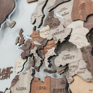 Wereldkaart Vliegtuigjes
