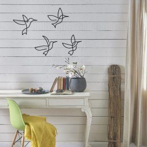 Metalen wanddecoratie - Line Birds