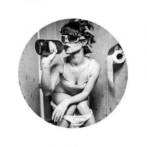 Behangcirkel - Toilet Drinking