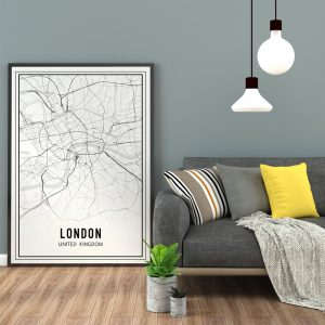 City Map - London City (Londen stadsposter)