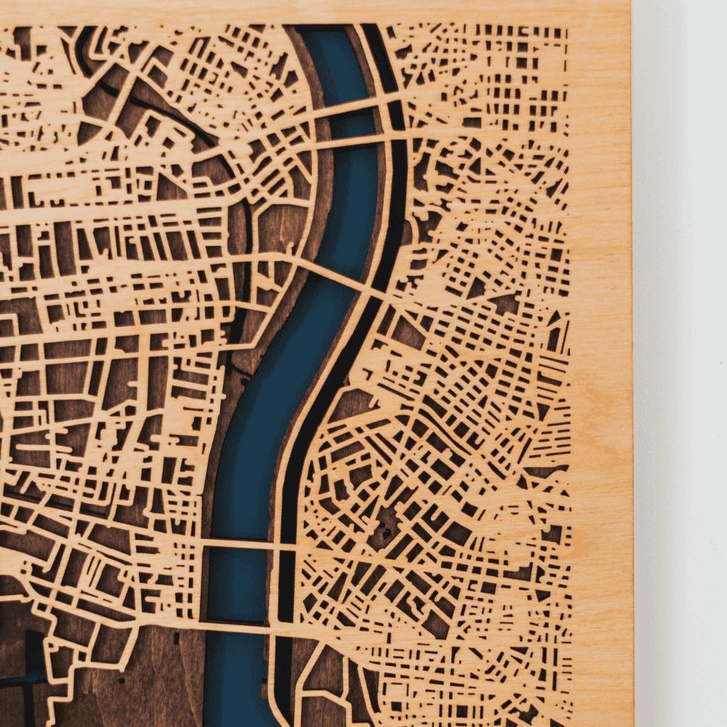 3D Houten City Map - Amsterdam