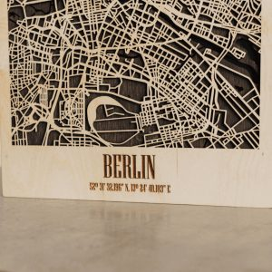 3D Houten City Map - Berlin