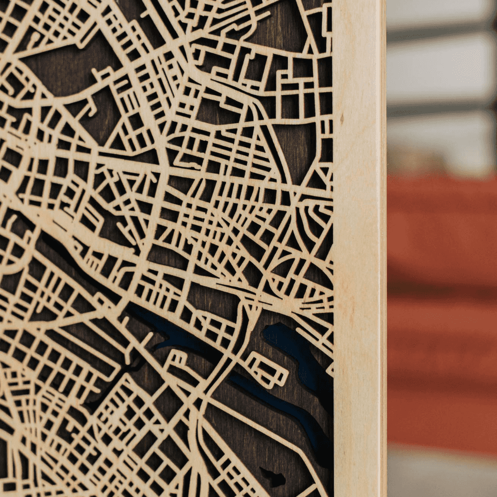 3D Houten City Map - Berlin