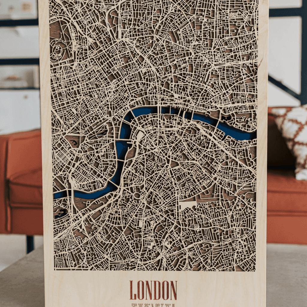 3D Houten City Map - London
