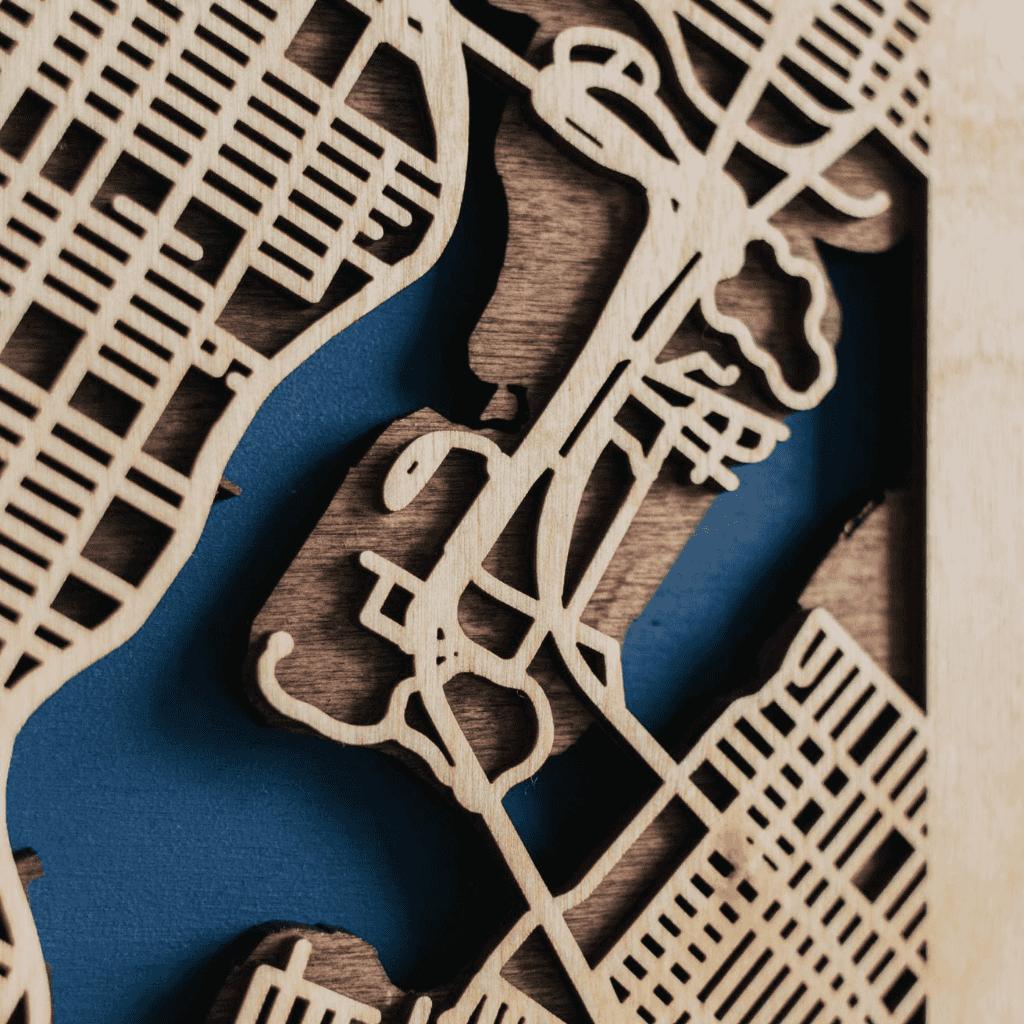 3D Houten City Map - New York