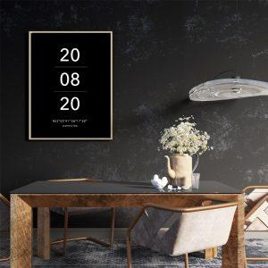 Datum poster zwart