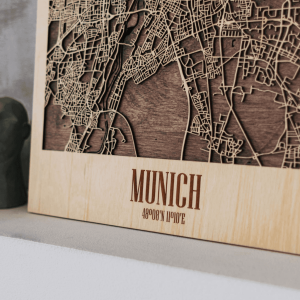 3D Houten City Map - Munich