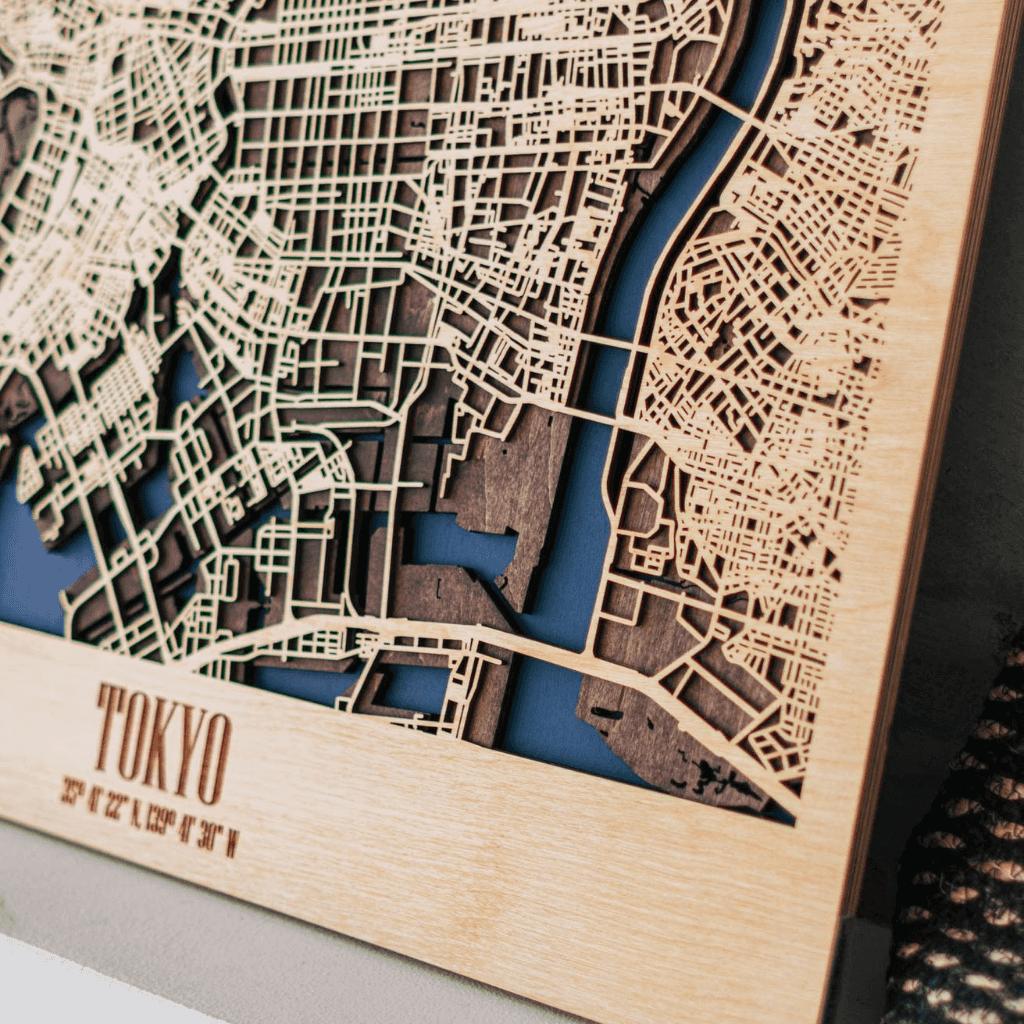 3D Houten City Map - Tokyo