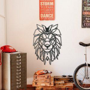Metalen wanddecoratie - Big Lion