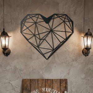 Metalen wanddecoratie - Heart