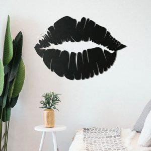 Metalen wanddecoratie - Lips