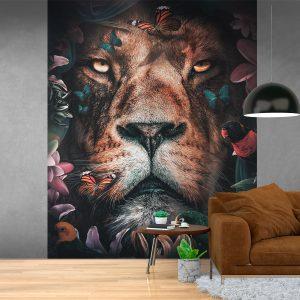 Fotobehang - Flower Lion