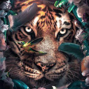 Fotobehang - Flower Tiger