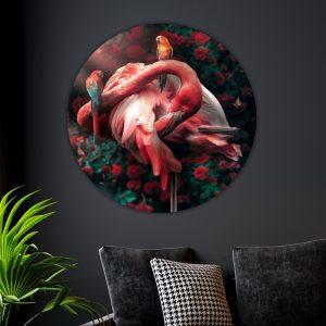 Behangcirkel - Flamingo