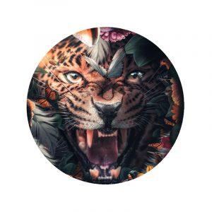Behangcirkel - Flower Jaguar