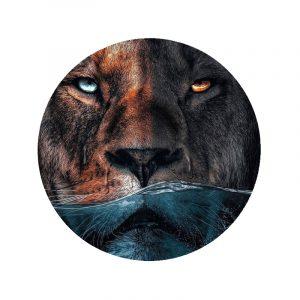 Behangcirkel - Water Lion