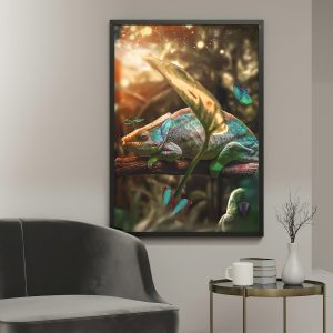 Chameleon poster botanisch jungle dieren