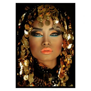 Decorated Women zwart goud poster