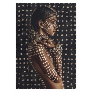 Aluminium Dibond Plexiglas Dots Women poster