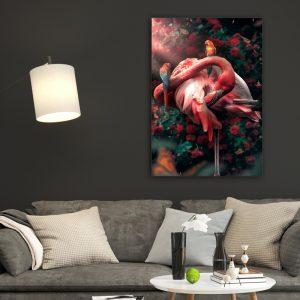 Flamingo poster botanisch jungle dieren