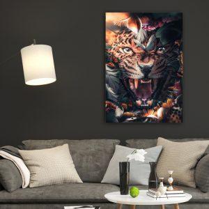 Flower Jaguar poster botanisch jungle dieren