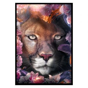 Flower Leopard poster botanisch jungle dieren