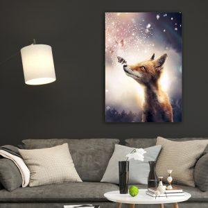 Fox poster botanisch jungle dieren
