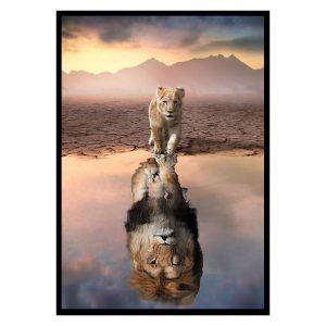 Future Lion poster botanisch jungle dieren
