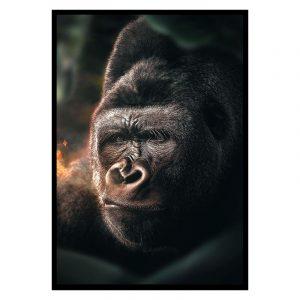 Jungle Gorilla poster botanisch jungle dieren