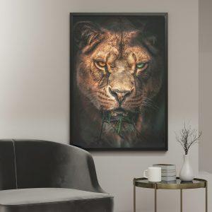 Hungry Tiger poster botanisch jungle dieren
