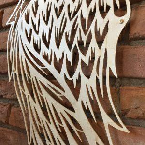 Metalen wanddecoratie - Angle Wings Gebroken Wit