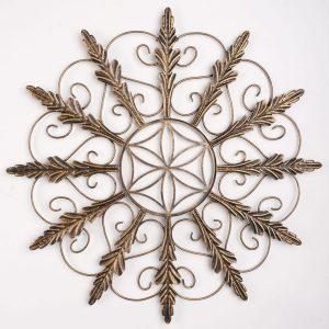 Metalen Bloemen wanddecoratie - Golden Gardenia