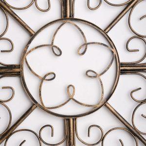 Metalen Bloemen wanddecoratie - Golden Wings