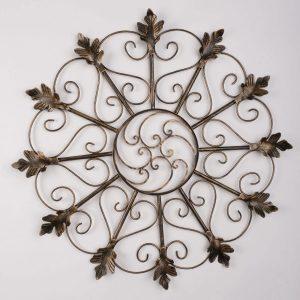 Metalen Bloemen wanddecoratie - Oak