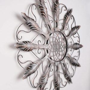 Metalen Bloemen wanddecoratie - Lotus