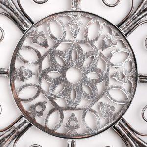Metalen Bloemen wanddecoratie - Silver Gardenia
