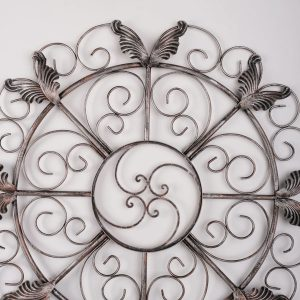 Metalen Bloemen wanddecoratie - Silver Wings