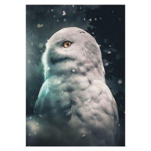Aluminium Dibond Plexiglas Owl botanische jungle dieren poster