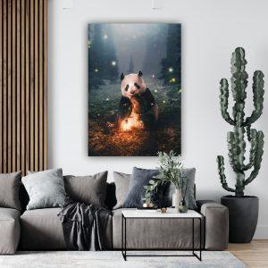 Panda poster botanisch jungle dieren