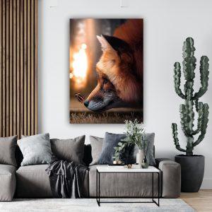 Sweet Fox poster botanisch jungle dieren