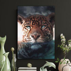 Water Jaguar poster botanisch jungle dieren