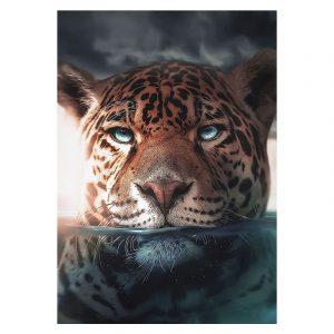 Aluminium Dibond Plexiglas Water Jaguar botanische jungle dieren poster