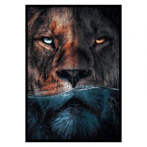 Water Lion poster botanisch jungle dieren