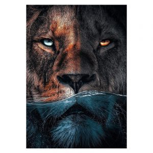 Aluminium Dibond Plexiglas Water Lion botanische jungle dieren poster