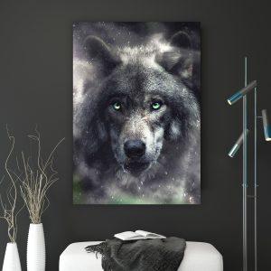 Wolf poster botanisch jungle dieren