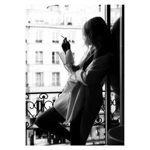 Balcony Women zwart wit poster