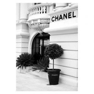 Chanel Store zwart wit poster