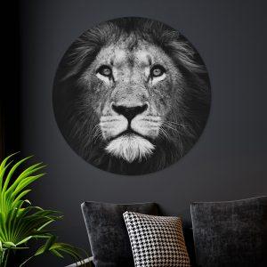 Aluminium Cirkel - Dark Lion